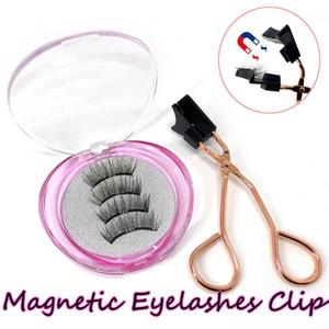 1 Satz Wiederverwendbare Magnet Wimpern mit Magnet eyelashs Applicator Clip Kein Kleber Need Easy Apply Handmade Doppelmagneten Wimper