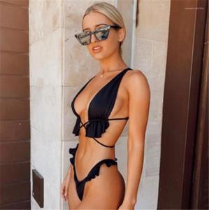 Бикини Sexy Solid Color Lace-up Two Piece купальники новое поступление Женские купальники 20SS Womens Designer