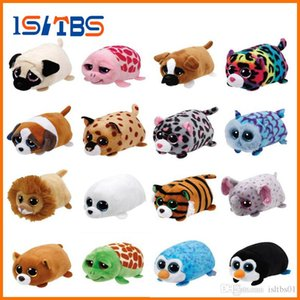 Beanie Boo teeny 30 stili ty Plush the Seal 10cm Ty Beanie Boos Big Eyes bambola peluche Toy Purple Panda Baby regalo per bambini