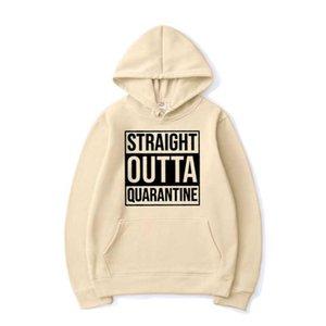 New Straight Outta Quarantine PatternHoodies Sweatshirt Männer Frauen Sport-beiläufige Street Hoodie Hip Hop Pullover Kleidung