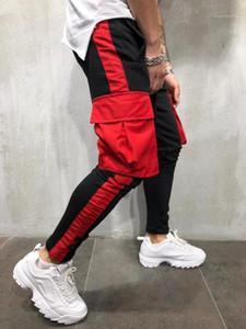 Calças Pantalones Roupas Mens Casual Sports Jogger Calças Cores Big bolso Designer lápis Atlético Primavera