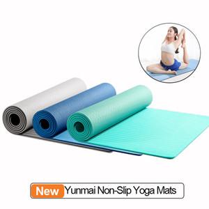 Originale Xiaomi Youpin YUNMAI 6 millimetri Double-sided Yoga tappetini antiscivolo smorzamento in compressione TPE Mat alta qualità 3000057C7