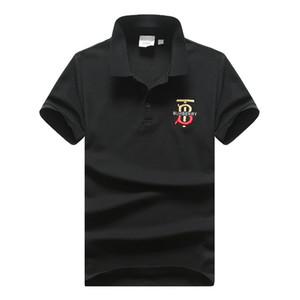 Mens 디자이너 폴로 셔츠 20 봄 여름 새로운 가슴의 자수 TB 편지역의 브랜드 옷깃 T-셔츠가 남성 BT 간단한 폴로 셔츠