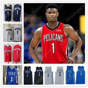 NEW HOT Zion Williamson SHIRTS DUKE COLLEGE Stitched Blue Evil Jerseys BASKETBALL 2019 sport stitched