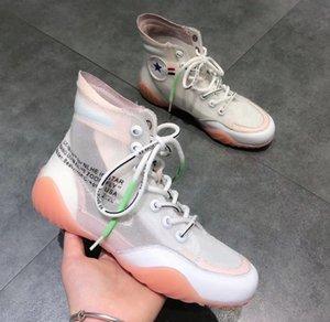 Kadın Ayakkabı Sonbahar Trend Stil Unisex Sneakers Yüksek Tops Şeffaf Sole Serin Moda Severler Rahat Ayakkabılar 35-40