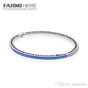 HYWo 100% de plata esterlina 925 1: 1 pulsera básico original auténtico encanto 590537EN82 adecuados joyería de bricolaje con cuentas Mujeres