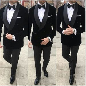 Classic Shawl Lapel Wedding Tuxedos Slim Fit Suits For Men Groomsmen Suit Three Pieces Prom Formal Suits (Jacket+Pants+Tie) W100