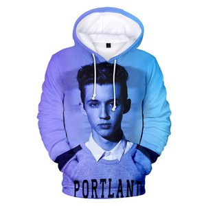 Troye Sivan 3D Imprimir Moletons Designer Spring Fashion Outono Hoodies solto luva Casal Roupa Crew Neck pulôver Casual Vestuário