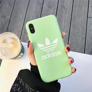 cassa del telefono del silicone di lusso all'ingrosso per l'iPhone 6S 7 8 P X XS moda logo della copertura posteriore nuovo telefono Designer Per i regali