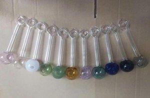 Colorato bolla Nuovo Tipo anello di vetro diretto masterizzazione Pot all'ingrosso Bong Oil Burner Pipe bicchiere d'acqua tubo di olio rig fumatori trasp