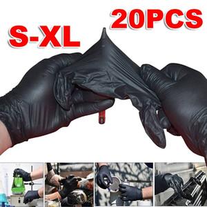 20PC S / M / L / XL المتاح لينة الأسود مطاط الوشم قفازات النتريل مطاط معقمة الوشم الدائم قفازات اكسسوارات