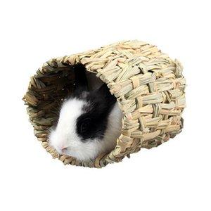 햄스터 고슴도치 햄스터 잔디 짠 해먹 들어 기니 돼지 케이지 잔디 짠 내구성 터널 장난감 침대