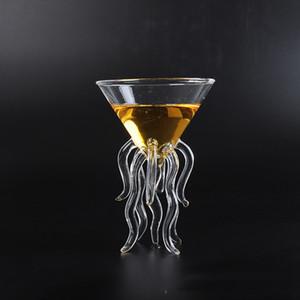 100ML criativa Octopus Cocktail Transparente Juice Jellyfish Cup Cálice cónico Wine Champagne Vidro Y200107