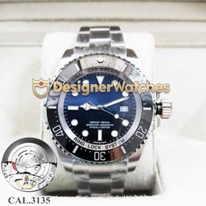 Sea-Dweller N V6 116660 CAL.3135 meccanico automatico della vigilanza del movimento 43MM luminoso dello zaffiro impermeabile Ceramic Designer lunetta Orologi Uomo