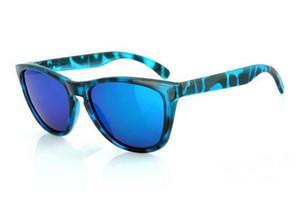 Новое качество роскошный дизайнер Черепаха пляжные солнцезащитные очки мужские / женские бренд Frogskin спортивные солнцезащитные очки поляризованные синий иридий объектив 55 мм
