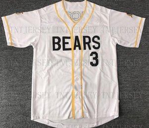 Cheap Retro custom The Bad News Bears #3 Kelly Leak Jerseys Stitched Customize any number name MEN XS-5XL