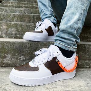 Новый последний вскользь ботинок на заказ Low Time Out Air One Utility Orange Black Men кроссовки силы кроссовки Кроссовки 1s Спорт Скейт обувь