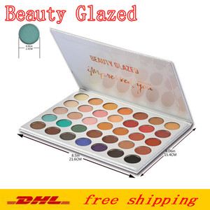 makeup palettes Beauty Glazed 35 Colors Eyeshadow Shimmer matte makeup eye Shadow Nude Beauty Impressed you palette Brand Cosmetics DHL