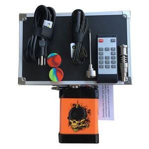 Original Menovo Electric Enail Nail Control remoto Dabber TC caja de control de temperatura con Ti Nail Carb Cap Tuberías de agua Bong vaporizador de cera