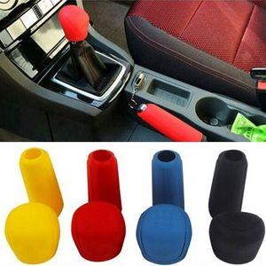 2Pcs Universal Manual Car Hand Brake Case Silicone Gear Head Shift Knob Cover Gear Shift Collars Handbrake Grip