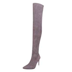 SAGACE Artı boyutu 35-43 Moda Üzeri Diz Uyluk Yüksek Boots Kadınlar Sonbahar Seksi İnce Yüksek Topuklar Platformu Kadın Ayakkabı Kadın Bırak 826