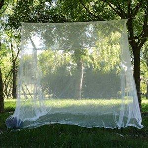 200X200X180Cm el viaje de camping Mosquitera Repelente de Insectos Carpa Rechazar 4 poste de esquina del pabellón cortina de la cama cama cama colgante Carpa Mosquitera
