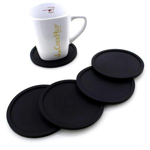 Coaster colorido Silicone eliminatória da Taça de café Titular impermeável resistente ao calor Copa Mat Thicken Coffee Coaster Almofada Placemat Pad DBC DHC139