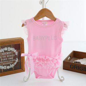 Newborn Lace Floral Bodysuits Summer Clothing 2019 Girls Clothes Cotton Infant Baby Bodysuit Sleeveless Jumpsuit