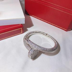 Heiße Marken Schraube Vollbohrer Nägel Armband Gold-Armband-Frauen-Armband-Punk für das beste Geschenk luxuriösen Superior-Qualität Schmuck