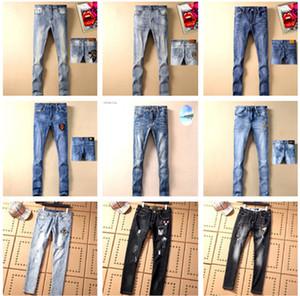19ss Hombres gucci jeans de diseño para  hombres gucci Jeans de mujer Pantalones de montar apresurados Distined Motociclista Denim Fashion gg jeans Hip Hop para gucci men