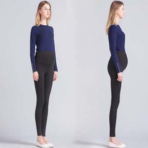 Hamile Kadınlar Tayt Kapriler Ince Bölüm Giyen Uzun Pantolon Sonbahar Giysileri Ince Elastik Bel Düz Renk Yüksek Bel 24