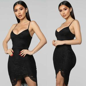 Vestido atractivo de la marca Hirigin 2019 más nuevo Vestidos Mujeres largo espaguetis vestido integral de la correa de la camiseta Cami deslizarse bajo Liner