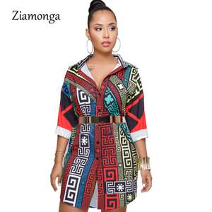 Ziamonga mode noir chaîne blanc Tunique Chemisier Femmes Printemps 2019 Automne Bureau Lady femmes Blouses Tops Blusas Femme