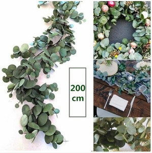 200CM Artificial Eucalyptus Garland Greenery Hanging Rattan Wedding Decoration Home Garden Table Centerpieces Party Hotel Cafe