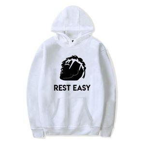 REST EASY Rapper Fleece Hoodies degli uomini Donna Primavera Autunno XXXTentacion souvenir Anniversario Pullover