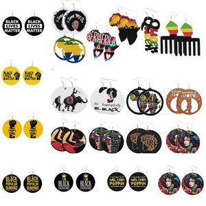 패션 나무 귀걸이 아프리카 초상화지도 귀걸이 블랙 사람들이 매우 중요한 국가 매력 귀걸이 파티 호의 6106
