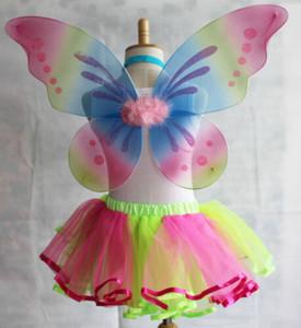 패션 무지개 천사 요정의 날개 여자 아기 장난감 유아 성인 드레스 파티 키즈 의상 (스커트 포함되지 않음)