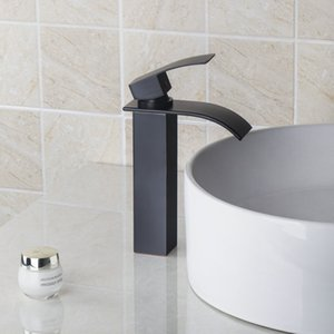 bathroom faucet Oil Rubbed Bronze Basin Faucet Deck Mounted Tub Mixer Tap Waterfall Spout Kitchen Mixer torneira