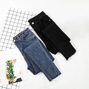 Jeans Women Black Pants High Waist Denim Women Pants High Elastic Skinny Pencil Stretch Plus Size S-XL