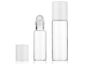 Empty 5ml 10ml Transparent Glass Roll On Bottle glass Roller Ball Cosmetic Perfume Essential Oil Sample Refillable Bottles