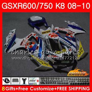 Наборы для Suzuki Peppenone Stock GSXR-750 GSXR-600 GSXR750 K8 GSXR 600 750 Body 9HC.86 GSXR600 GSX R750 R600 08 09 10 2008 2009 2011