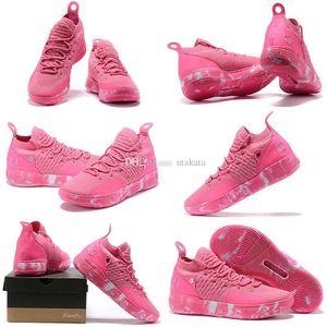 con caja Zapatillas de baloncesto para hombre KD 11 en venta Tía Perla Rosa Rojo Triple Negro Pascua Amarillo KD11 Kevin Durant XI Sneakers