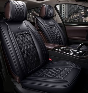 Universal Fit Car Interior Accessories Seat Covers For Sedan PU Leather Adjuatable Five Seats Full Surround Design Seat Cover For SUV LDJ001