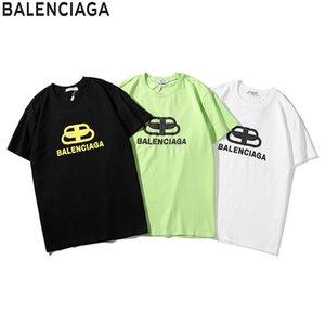impressão T-shirt dos homens novos chun xia é homens elegantes soltas gola redonda e mulheres tendência de curto luva 3 cores opcionais