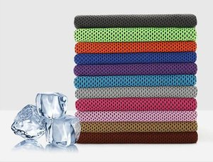 88 * 33 cm ice cold towel arrefecimento sunstroke verão esportes exercício fresco quick dry macio respirável toalha de refrigeração