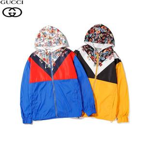 Men Jacket Coat Casual Mens Luxury CUCCI Brand Jackets Tops with Letter Printed Lapel Hooded Black Windbreaker Streetwear M-XXL