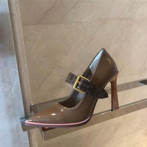 Renkli Tasarımcı Yüksek Topuklu Sivri Burun Pompaları EN kaliteli Hakiki deri Stilettos Seksi Kayma Elbise Ayakkabı Parti ayakkabı boyutu 35-42 B100527W
