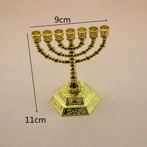 Menorah Israel Home Decor Brass 7 Branch Alloy Candle holder