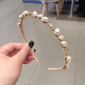 Творческий Имитация Pearl оголовье моды личности Шарм Женщины Тонкий Hairbands Крытый Открытый Милые девушки головные уборы Ювелирные изделия