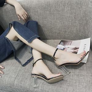 Hot Sale-Sandalen Leder PU-Frauen Art und Weise Luxus-Designer-Schuhe Dame einfacher Stil lässig Sandalen TY-76